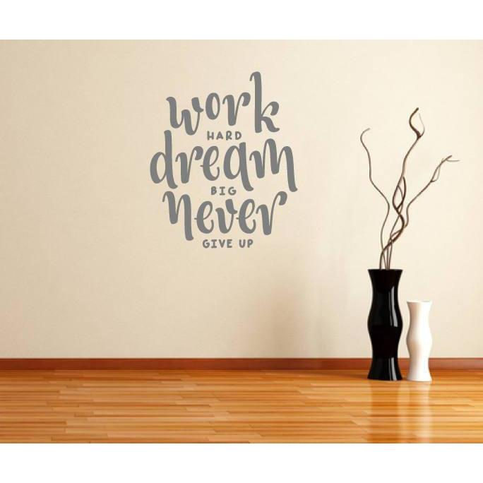 Wall Decal Quote, Motivational Quote, Inspirational Quote, Work Hard, Wall Art Quote, Wall Sticker Quote, Wall Quote, Wall Art, Home Decor