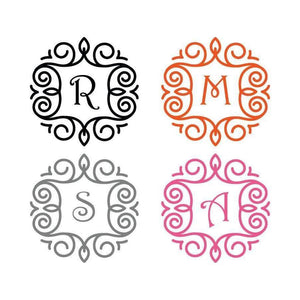 Cup Decal, Tumbler Decal, Tumbler Sticker, Cup Sticker, Yeti Sticker, Yeti Decal, Monogram Decal, Monogram Stickers, Water Bottle Decal, 077