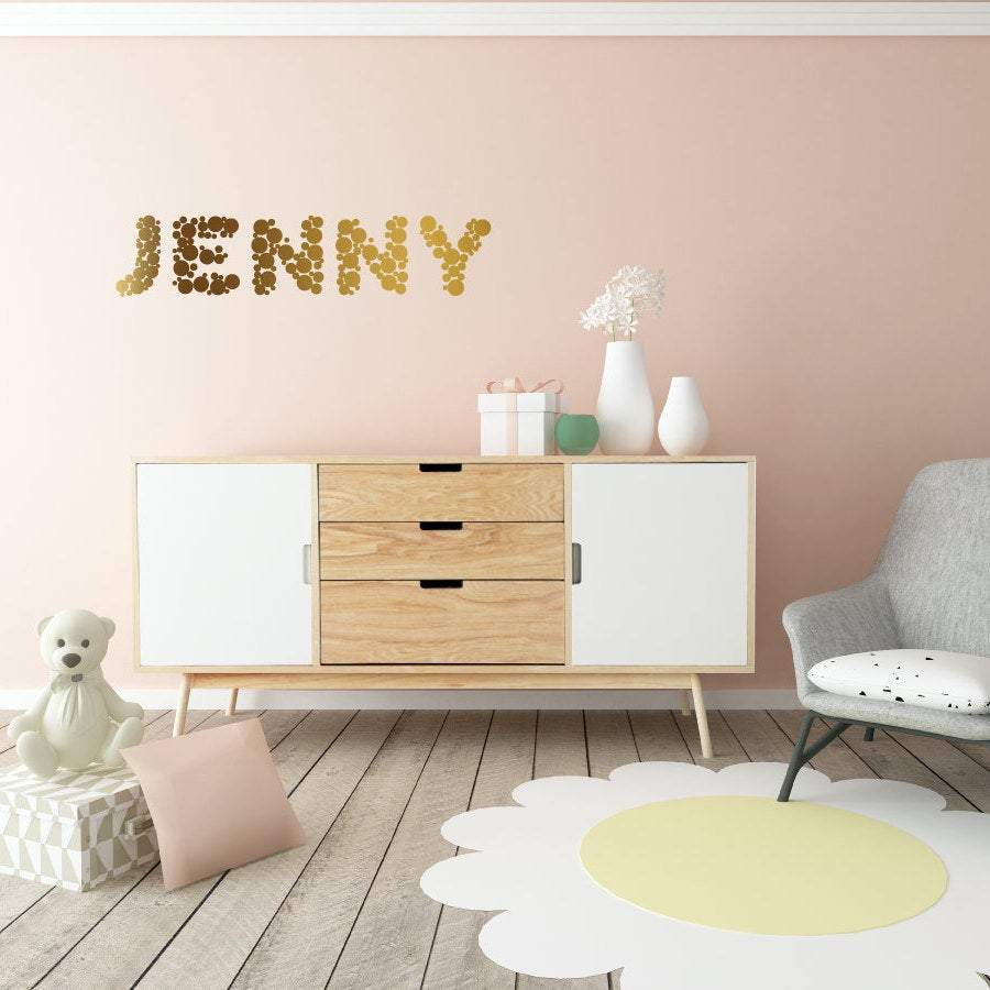 Nursery Wall Decal, Nursery Wall Art, Custom Name Decals, Polka Dot Wall Art, Polka Dots, Childrens Wall Decals, Kids Wall Decals, Decor