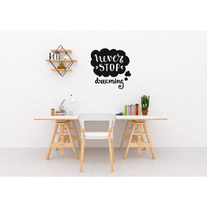 Motivational Quote, Wall Stickers Quotes, Wall Decal Quotes, Never Stop Dreaming, Inspirational, Quotes For Walls, Office Decor, Home, 200