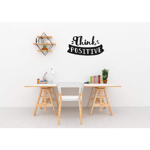 Positive Quotes, Think Positive Wall Decal Sticker Wall Stickers Quotes Motivational Wall Art Inspirational Home Office Wall Decor, 200-QuoteMyWall