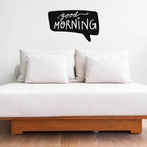 Wall Decal Quote, Good Morning, Wall Sticker Quote, Teen Room Decor, Home Decor, Vinyl Wall Art, Wall Quotes, Bedroom Wall Sticker, Wall Art