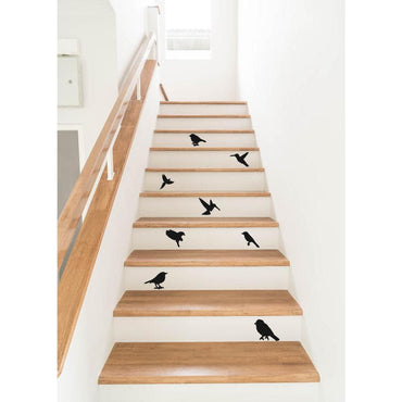 Stair Decals, Stair Stickers, Bird Stickers, Bird Wall Stickers, Bird Decals, Flying Bird Decals, Stair Riser Decals, Decals For Stairs, Art