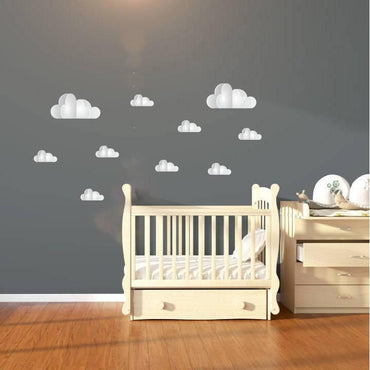 Cloud Wall Stickers, Cloud Wall Decals, Cloud Decal, Cloud Wall Art, Nursery Stickers, Nursery Decals, Wall Mural, Wallpaper, Wall Print, 17