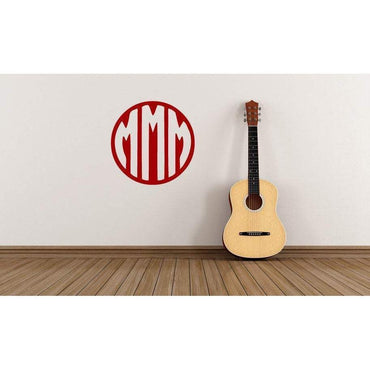 Monogram Font Decal, Monogram Art, Wall Decal Sticker, Circle Monogram, Monogram, Vinyl Decal, Vinyl Sticker, Laptop Monogram, Tablet, 078