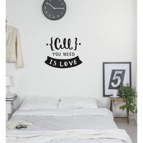 Love Wall Sticker Quote, Wall Stickers Quotes, Love Wall Decals, All You Need Is Love, Bedroom Wall Decal, Love Wall Art, Quotes Stickers-QuoteMyWall