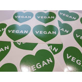 Vegan Sticker, Vegan Decals, Vegan Lover, 100% Vegan, Vegan Heart, Green Vegan, Love Vegan, Vegan Love, Vegan Gifts, Vegan Stickers, Love
