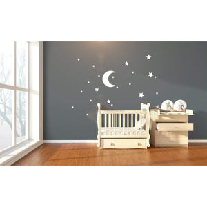 Moon And Star Stickers, Star Stickers For Nursery, Nursery Wall Art, Stickers For Nursery, Moon Decal, Star Decals, Star Wall Art, Moon Art