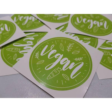 Vegan Laptop Sticker, Vegan Stickers, Vegan Gifts, Vegan Decal, Laptop Stickers, Animal Rights, Vegan Logo, Vegan Power, Gifts For Vegans