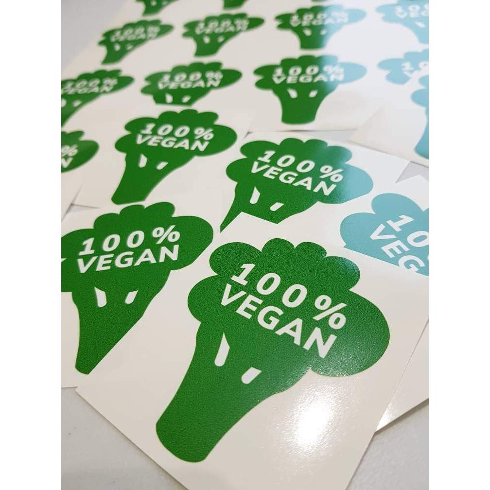 Vegan Sticker, Vegan Decals, Vegan Lover, 100% Vegan, Vegetarian Decal, Green Vegan, Vegetarian Gift, Vegan, Vegan Gifts, Vegan Stickers