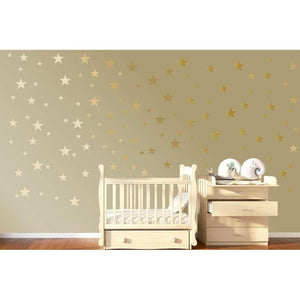 120 Gold Star Wall Stickers Gold Wall Decals Star Wall Decals Star Decals Baby Room Wall Art Gold Confetti Star Confetti Twinkle Stars Kids-QuoteMyWall
