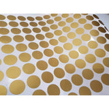 100 Gold Metallic Polka Dot Wall Decals/Wall Stickers, Decoration, Vinyl, Envelope, Car, Office, Home, Nursery Wallpaper, Matte/Gloss