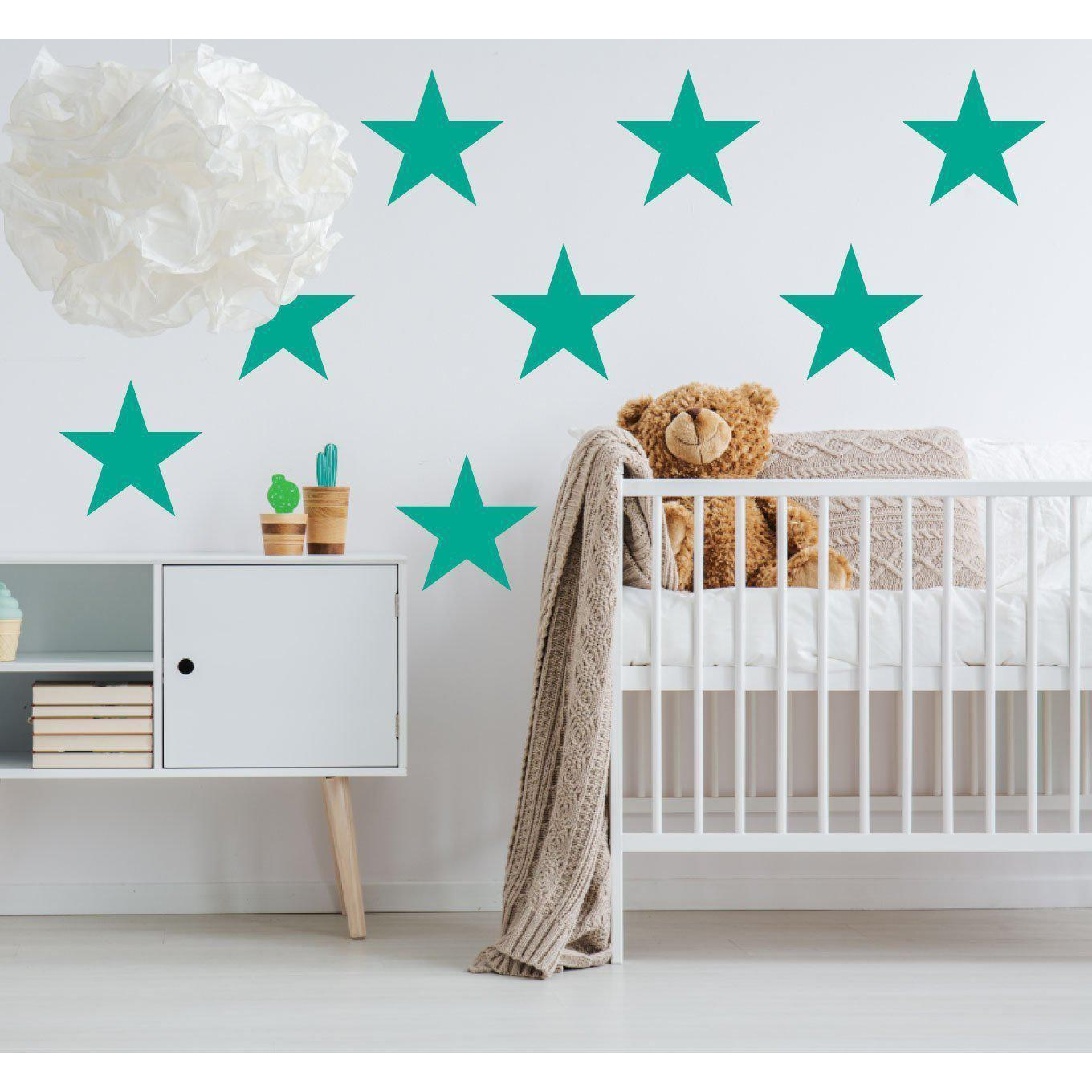Nursery Wall Stickers 12 Extra Large Stars Wall Stickers Stars Wall Decals Home Decoration Wall Art Stickers