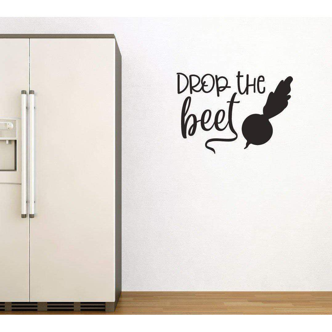 Drop The Beet, Funny Kitchen Wall Sticker, Kitchen Decal, Kitchen Decal, Funny Wall Art, Funny Wall Sticker, Food Wall Decal, Dining Decal