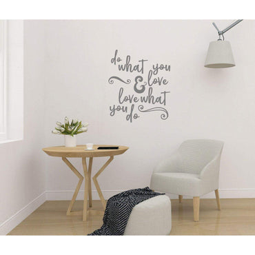 Wall Decal Quote, Do What You Love, Wall Sticker Quote, Wall Decal Quote, Motivational Wall Sticker, Positive Wall Decal, Wall Art, Slogan