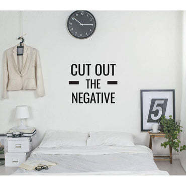 Cut Out The Negative Motivational Wall Sticker Quote