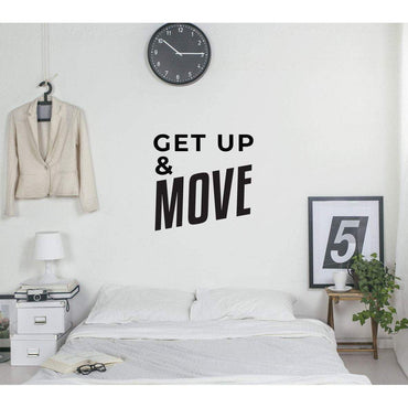 Get Up & Move Motivational Wall Sticker Quote