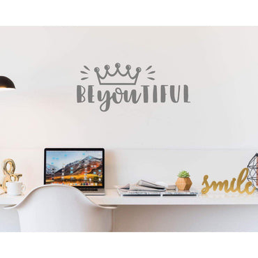 BeYouTiful Beautiful Positive Wall Sticker Quote