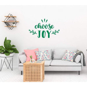 Choose Joy Happiness Wall Sticker Quote