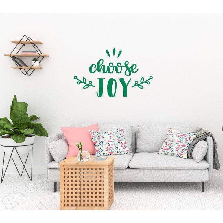 Choose Joy Motivational Wall Sticker Quote
