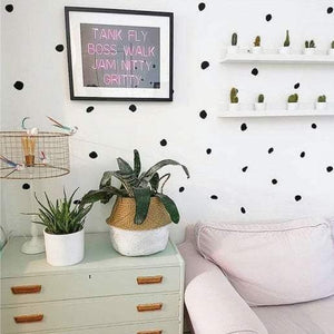 Animal Spot Polka Dot Wall Stickers Polka Decals Home Nursery Office 36 Colours Vinyl Wall Art