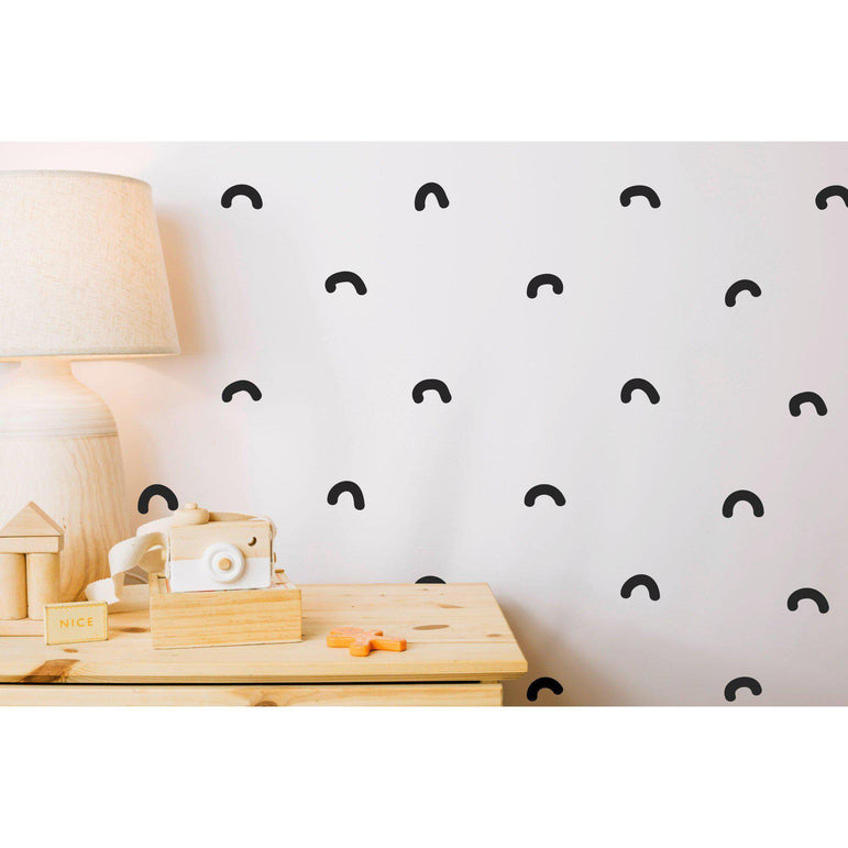 Nursery Wall Art Stickers Decals Arc Peel And Stick Kids Wall Stickers Nursery Decor For Walls Irregular Hand Drawn Arches