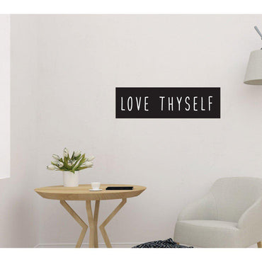 Love Thyself Modern Motivational Wall Sticker Quote