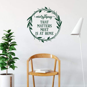 Everything That Matters Most Is At Home Wall Sticker Quote