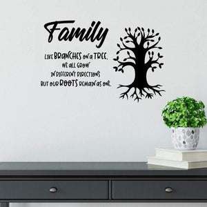 Family Wall Sticker Quote Like Branches On A Tree