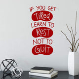 Not To Quit Motivational Wall Sticker Quote