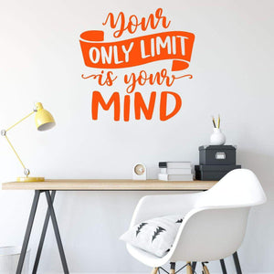 Your Only Limit Is Your Mind Motivational Wall Sticker Quote