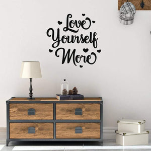 Love Yourself More Motivational Wall Sticker Quote