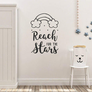 Reach For The Stars Nursery Wall Sticker Quote