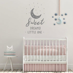 Sweet Dreams Little One Nursery Wall Sticker Quote