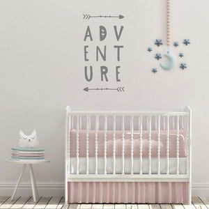 Adventure With Arrows Nursery Wall Sticker Quote