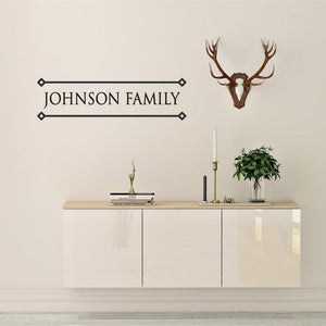 Family Surname Personalised Wall Sticker