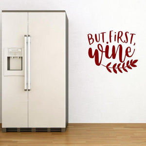 But First Wine Kitchen/Dining Wall Sticker Quote