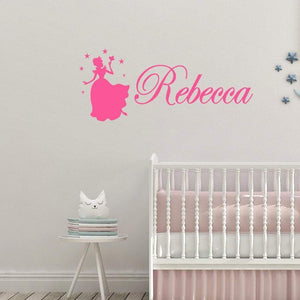 Personalised Name Fairy Children's Wall Sticker