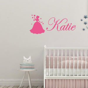 Personalised Name Fairy & Butterflies Kids/Nursery Wall Sticker