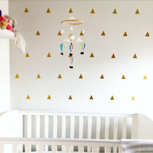 100 Triangle Decals, Triangle Wall Decals, Vinyl Triangles, Gold Triangle Decals, Gold Wall Stickers, Triangle Stickers, Gold Decals, Art