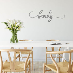 Family Calligraphy Wording Wall Sticker