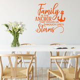 Family Is The Anchor Wall Sticker Quote