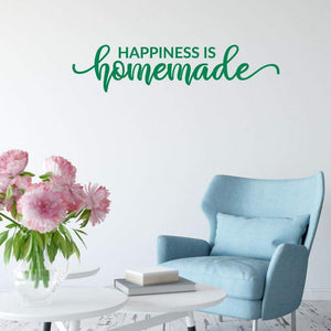 Happiness Is Homemade Family Wall Sticker Quote