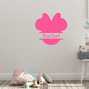 Personalised Name Disney Minnie Mouse Wall Sticker