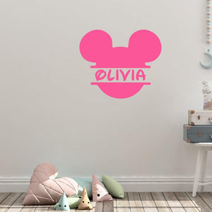 Custom Name Disney Micky Mouse Wall Sticker