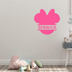 Personalised Disney Minnie Mouse Wall Sticker Name