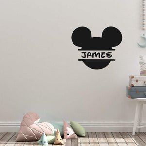 Customised Name Disney Micky Mouse Wall Sticker Name