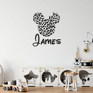 Personalised Name Disney Wall Sticker Animal Spots Children's