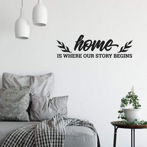 Home Is Where Our Story Begins Family Wall Sticker Quote