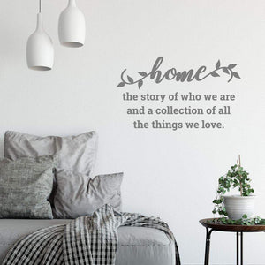Home The Story Family Wall Art Sticker Quote